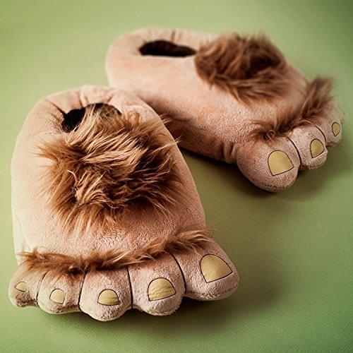 Cinyifan Cute Funny Soft Warm Feet Slippers House Cotton Sliper Zapatos De Interior Marrón