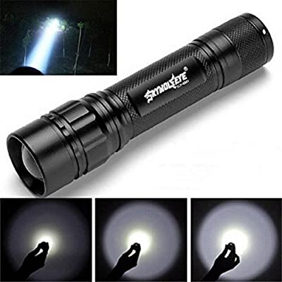 Laimeng Torch,Super Bright 3000 Lumens 3 Modes CREE XML XPE LED 18650 Flashlight Torch Lamp