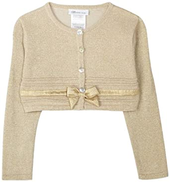 Amazon.com: Bonnie Jean Little Girls' Cardigan Sweater With Bows ...