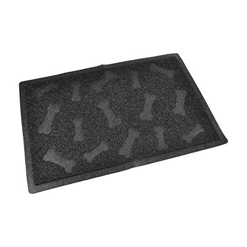 CODICO 6tap004nr Cat Litter Box Mat Rectangle PVC Bone Print