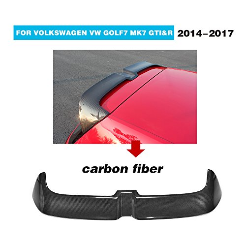 MCARCAR KIT For 2014-2017 Volkswagen VW Golf 7 GTI R Factory CNC Moulding Top Fit Carbon Fiber Rear Roof Window Spoiler Golf Gti Carbon