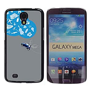 Stuss Case / Funda Carcasa protectora - An Imaginative James Bond Car - Samsung Galaxy Mega 6.3