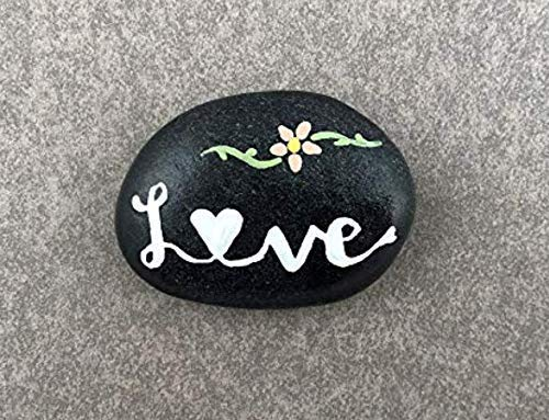 Hand Painted Rock - Love