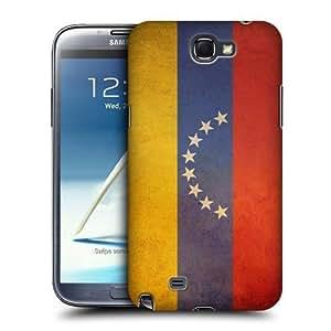 AIYAYA Samsung Case Designs Venezuela Venezuelan Vintage Flags Protective Snap-on Hard Back Case Cover for Samsung Galaxy Note 2 II N7100