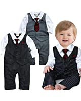 EGELEXY Baby Boy Formal Party Wedding Tuxedo Waistcoat Outfit Suit