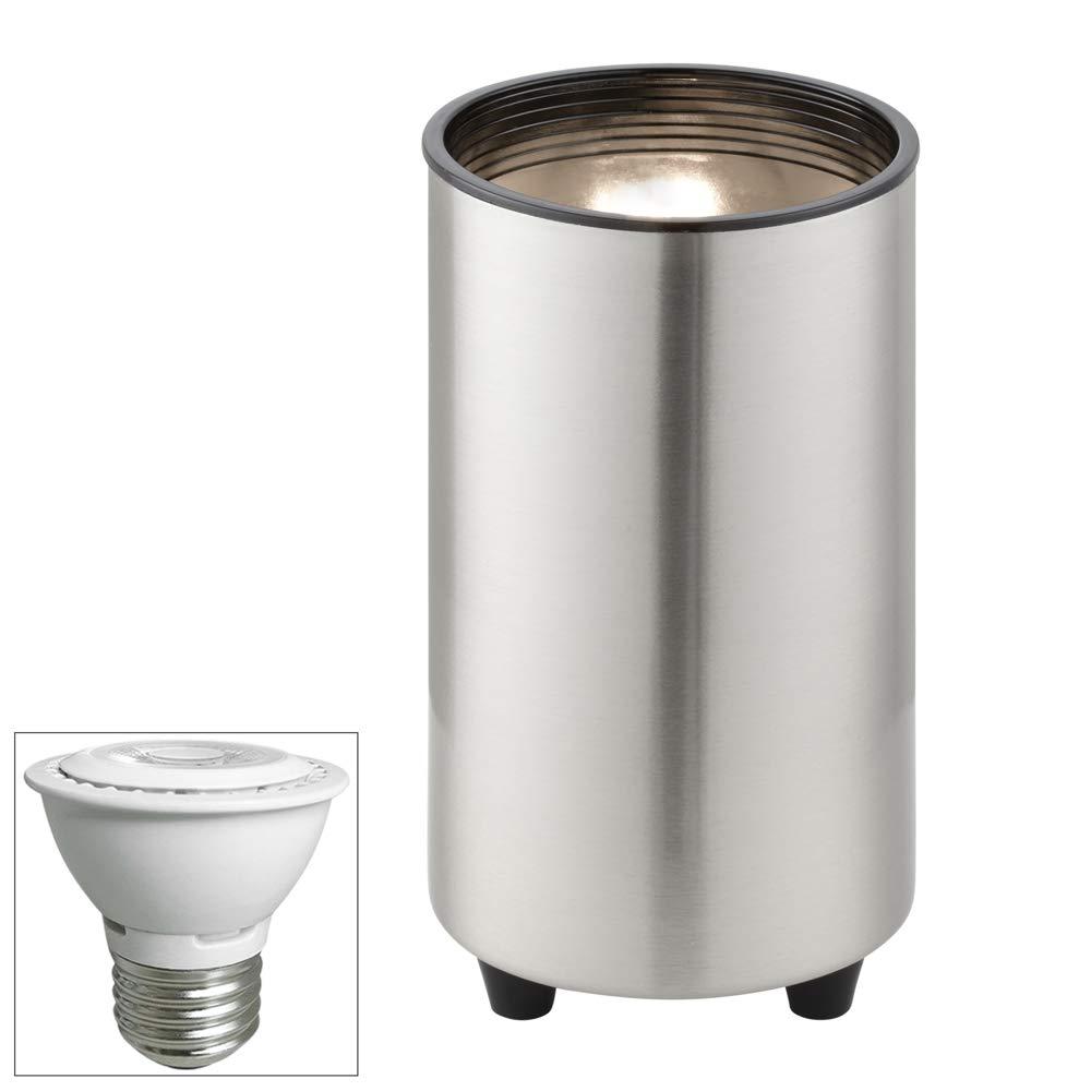 Brushed Steel 6 1/2''H PAR16 LED Mini Can Accent Spot Light