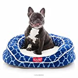 Memory Foam Dog Bed - BRINDLE Premium Waterproof Memory Foam Bolster Pet Bed with Washable Designer Cover