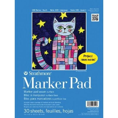 6 Pack 9'' x 12'' Tape Bound Marker Pad (Product Catalog: Paper Media, Canvas & Surfaces)