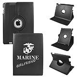 Proud Marine Girlfriend On iPad Mini 4 Leather Rotating Case 360 Degrees Multi-angle