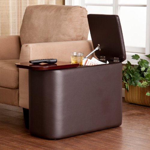 Southern Enterprises Ally Chairside Table - Cafe