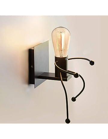 Applique Murale Interieur, Cozihoma Lumière Industrielle Lumière Rétro  Creative E27 Iron Art Art Déco Pour
