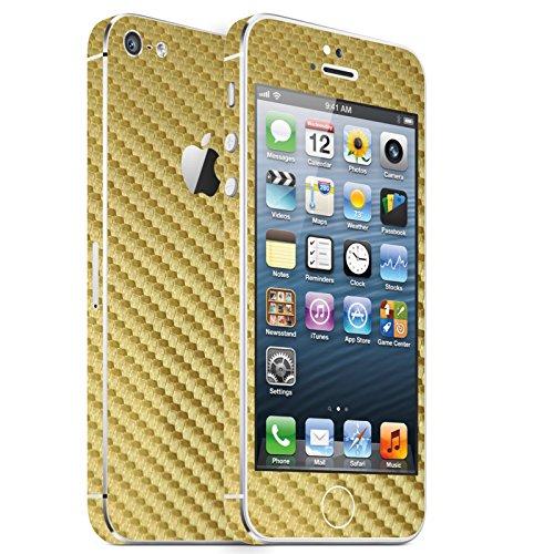IPHONE 5 GOLD CARBON FOLIE SKIN ZUM AUFKLEBEN bumper case cover schutzhülle i phone