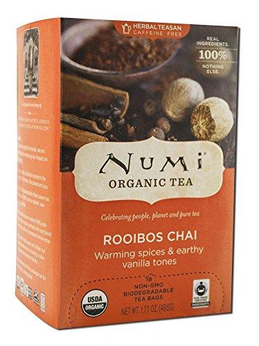 Numi Ruby Chai Spiced Rooibos Ft Og 18 Bg, Pack of 2 Ruby Chai Tea