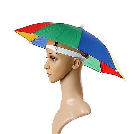 la meilleure attitude d7c07 24e6b homiki 1PC Chapeau de Parapluie Costume d'arc-en-Ciel Casquette Parasol  Anti-UV Multicolore pour Les Activités en Plein Air Pêche Randonnée Golf  Plage