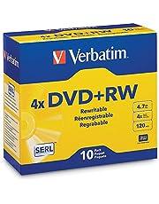 Verbatim America, LLC Verbatim DataLifePlus 94839 DVD Rewritable Media -DVD+RW -4X -4.70 GB -10 Pack Slim Case -2 Hour Maximum Recording Time, 10pk Jewel Case
