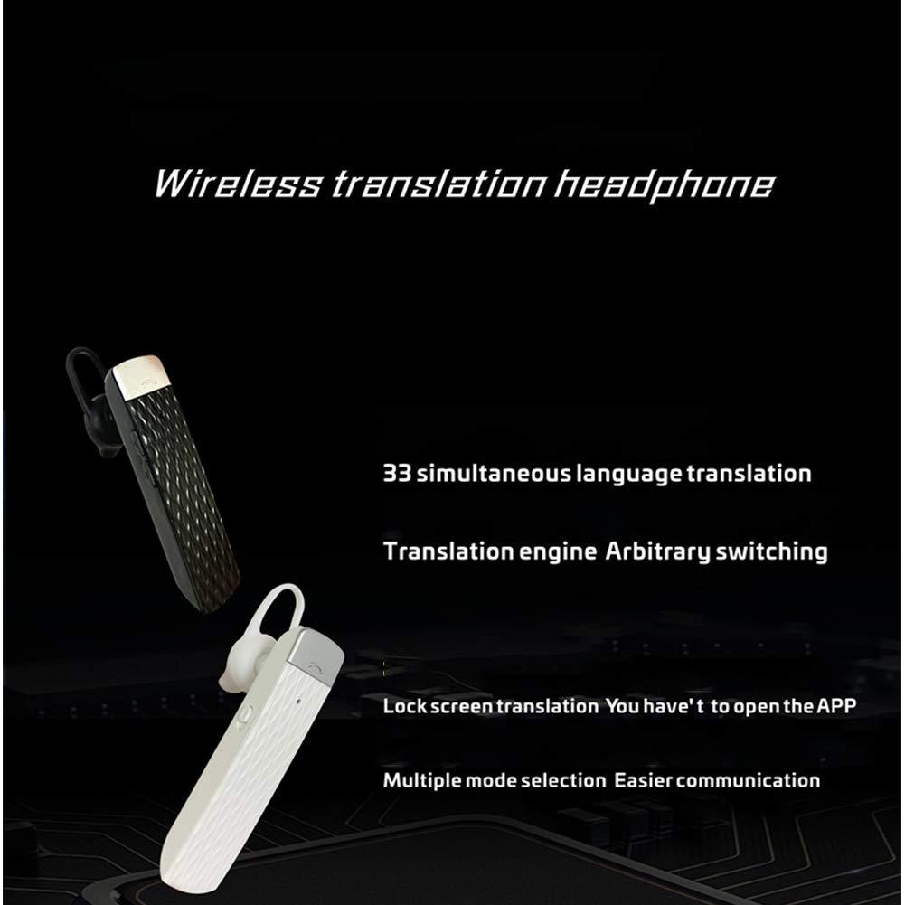 Auriculares Bluetooth Smart Translator Auriculares inal/ámbricos de traductor de 33 Idiomas para Aprender a Viajar LZDseller01 Auriculares de traducci/ón traductor electr/ónico port/átil