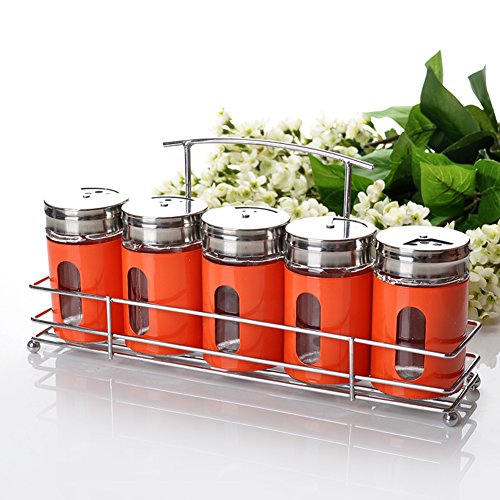 5 Piece set Stainless Spice and Condiments Rack - 8