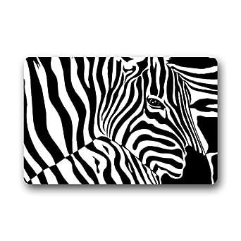 Fantástico Felpudo Abstract Zebra arte Animal PRINT Felpudo alfombra para interiores/exteriores/puerta delantera