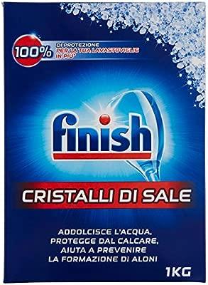 Finish - cristales de sal para lavavajillas, 5 x 1kg: Amazon ...