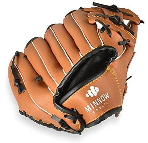 Minnow Sports Nixie Sport Baseball Glove for Kids, 9.5 Inches - Tpx Pitcher Glove