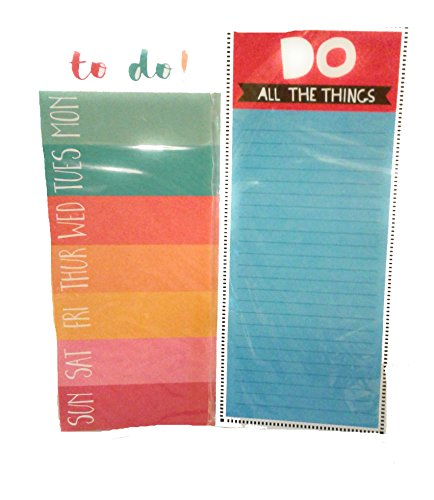 Set of 2 Magnetic Notepads - All the Things To Do List & Weekly To Do List Notepads for Work, Home Magnetic Notepads (Include Magnets) 3.6 x 8.3 (Home Notepad)