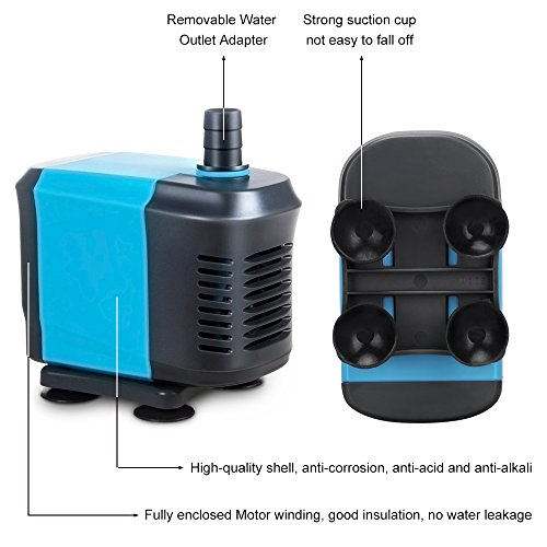 Kedsum 550gph 2500lh submersible water pump for pond for Fish tank water pump