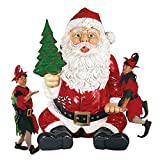 Design Toscano Santa Claus Statue with Hand Seat
