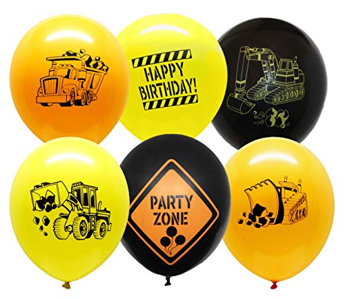 Construction Party Supplies - 30 Construction Themed Balloons