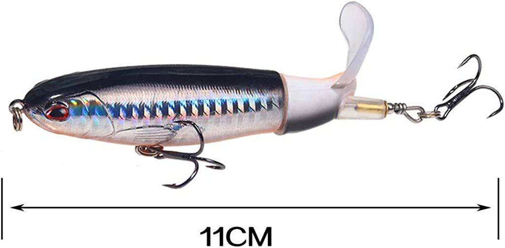 QBQCBB Premium Hunters Spin-Tail Lures Series Floating Fishing Lures Rotating Tail Up