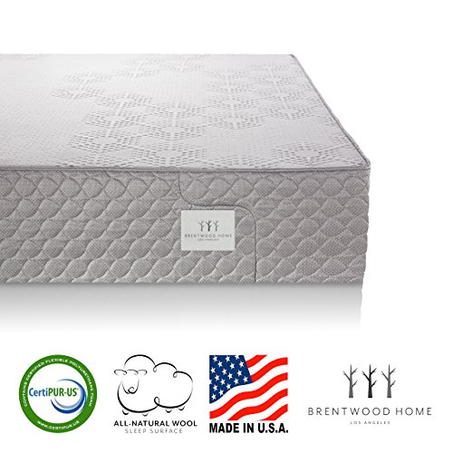 Brentwood Home S-Bed Latex and Gel Memory Foam Mattress, Made in California, Firm, Queen