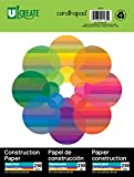 """Ucreate 91160 Construction Paper, 9"""" x 12"""", 250 Sheets, Assorted Colors"""