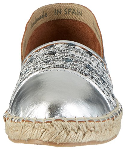 242 472 Basse Black silver Argento Espadrillas Donna 6Cq8Z