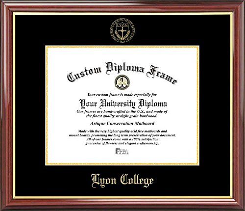 Lyon College Scots - Embossed Seal - Mahogany Gold Trim - Diploma (Lyon Framed)