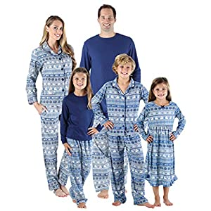 SleepytimePjs Holiday Family Matching Navy Nordic PJs Sets for The Family