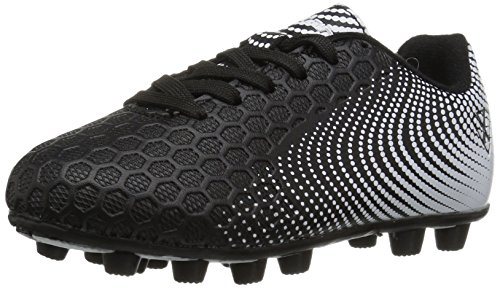 Vizari Unisex-Kids Stealth FG Size Soccer-Shoes, Black/White, 10 M US Little Kid