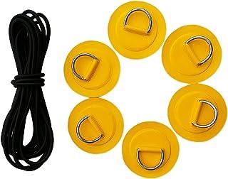 Générique 6 X Tampon en Acier Inoxydable D-Ring/Patch Cordon De Choc De 5 M pour Non-brand
