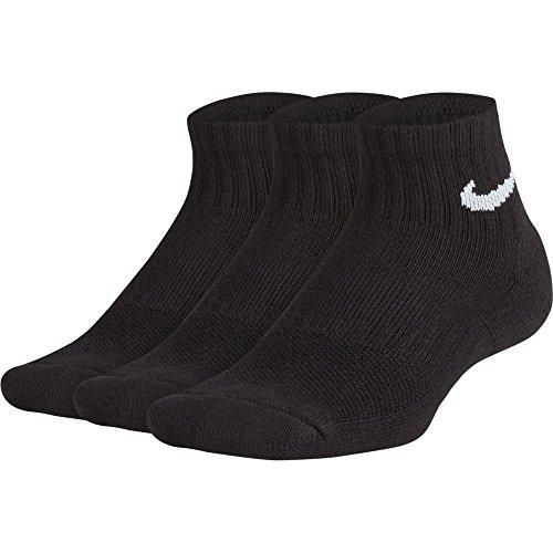 Calcetines Nike �?Performance Cushioned Quarter Training (3 Pair) negro/blanco talla: 38 al 42 EU I 6-9 USA I 5-8 UK