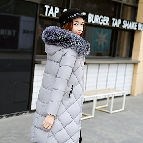 Xuanku Cotton And Women In The Long Section Of Thick Winter Feathers Cotton Suits A Large Collar Collar Cotton Jacket Grey