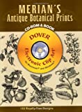 img - for Merian's Antique Botanical Prints (Dover Electronic Clip Art) (CD-ROM and Book) book / textbook / text book