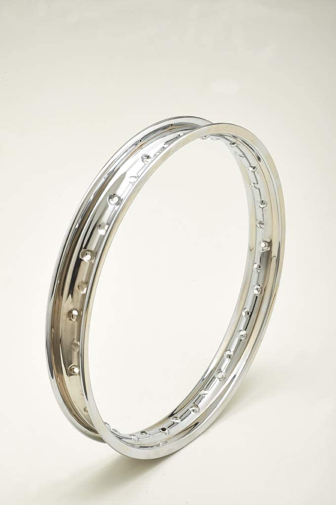 Felge aus verchromtem Stahl CHROMED STEEL WHEEL RIM ITALCERCHIO 1.85 x 18 36 FORI