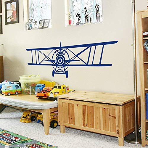 - Teisyouhu Vinyl Wall Decal Sticker Airplane Set of Three Planes Biplane and Single Wing Airplanes Airplane Decor Airplane Nursery Plane Decal 184 Home Decor Wall Murals Gift Ideas