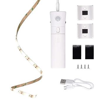 kwmobile Luz LED portátil y Tira de luz - Luz con Sensor de Movimiento - Cinta