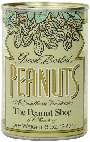 - The Peanut Shop of Williamsburg Green Boiled Peanuts, 8 oz. Tins - 2 PACK!
