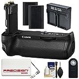 Canon BG-E20 Battery Grip for EOS 5D Mark IV Digital SLR Camera with (2) LP-E6 Batteries + Dual Charger + 5000mAh Power Bank + Kit