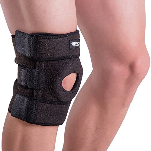 Knee Brace Support Sleeve for Arthritis, Meniscus Tear, ACL, Running, Basketball, Sports, Athletic, MCL, Runners Men and Women – Adjustable Neoprene Open Patella Stabilizer Protector to Relieve Pain