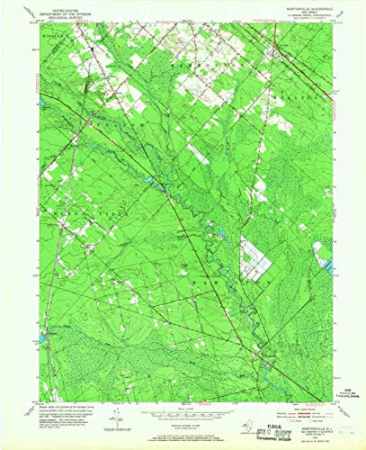 YellowMaps Newtonville NJ topo map, 1:24000 Scale, 7.5 X 7.5 Minute, Historical, 1953, Updated 1968, 27.1 x 22 in - Tyvek ()