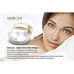 Genesea Hydrating Mineral Night Cream with 3% Retinol & Collagen - Helps Improve the Appearance of Fine Lines, Wrinkles & Dry Texture - Premium anti aging skin care facial moisturizer, Paraben Free