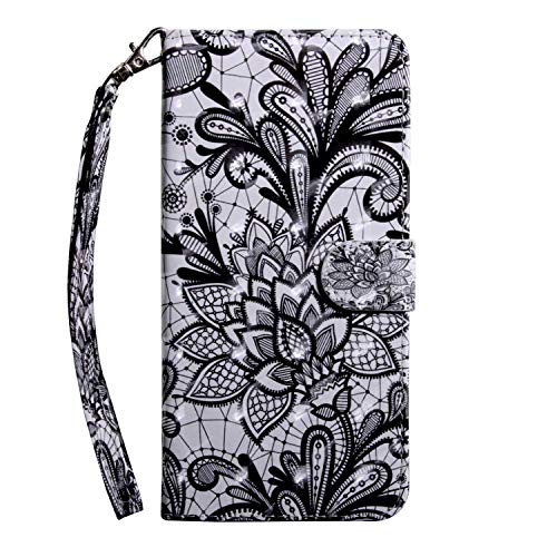 Bear Village Galaxy J5 2016 Case, PU Leather Book Style Cover with Card Slots, 3D Pattern Design Wallet Flip Case for Samsung Galaxy J5 2016 (#3 Lace)