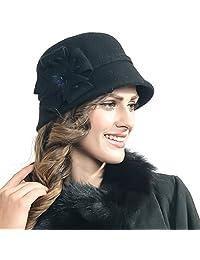 Fanny Women's Wool Blend Felt Cloche Winter Hat Zs-z0002