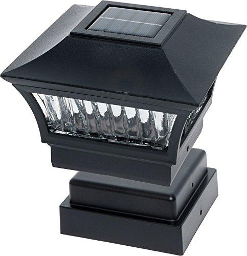 GreenLighting Aluminum Solar Post Cap Light 4x4 Wood or 5x5 PVC (Black, 4 Pack) by GreenLighting (Image #6)